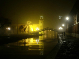 Conversation on a foggy night