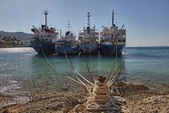 Ship graveyard (Thomas Mülchi) Tags: spetses attica greece island saronicgulf saronicisland 2017 shipgraveyard sea bluesky