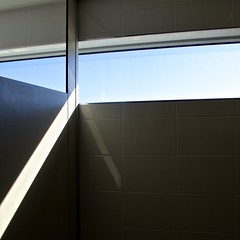 Tripod (Padmacara) Tags: g11 contemplative commonplace shadowlight square window ray split reflection tile sky