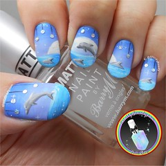 Dolphin Nails (ithinitybeauty) Tags: nails nailart nails2inspire nailsoftheday manicure style polish lacquer cosmetics notd studs holographic fashion art artist artwork freehand