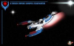 K'irssen empire Scorpus starfighter (Loysnuva) Tags: lego starfighter moc space pewpew empire original kirssen loysnuva bionifigs