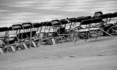The end of the show (Fearghàl Nessbank) Tags: nikon d700 blackwhitephotos bw mono monochrome chairs art