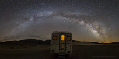 Camping Under the Stars (Jeffrey Sullivan) Tags: death valley national night milky way stovepipewells california united states usa starry landscape nature photography stars astrophotography astronomy canon eos 6d photo copyright 2017 jeff sullivan inyocounty milkyway park travel april truckcamper camper camping bigfoot 25c94 torklift happijac ford f350 4wd pickup 4x4 solar offgrid off grid