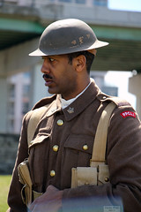 Faces of Vimy Ridge 100: Black soldier in PPCLI uniform (Can Pac Swire (away for a bit)) Tags: toronto ontario canada canadian forces armed army fortyork national historic site reenactment worldwar one 1 i wwi great war 1917 battle vimyridge 2017 100th 100 anniversary centenary remembrance 2017aimg8074 soldier black