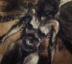 moral knowledge suppressor (judafuta) Tags: nude female woman art drawings charcoal conte boobs fantasy sepia vagina pussy sexy moral