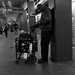 Subway patron
