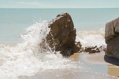 DSC_7458 (jonnyherb) Tags: water waves beach splash ontario lakeerie crashing droplets waterdroplets clay
