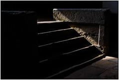 Stairway to... (Escalera hacia el...) (Jimihendrix II) Tags: detallearquitectónico iglesiadesancipriano spain fontiveros espagne españa ávilaprovincia escalera castillayleón sombra sombras luces contraluz oscuridad escalón escalones