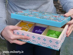 Pink-Blue Birds Tea Box (Smile Arty) Tags: gift present vintage handmade decoupage crafts arts diy tea box