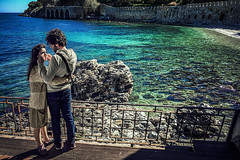 Eponine (Melissa Maples) Tags: alanya turkey türkiye asia 土耳其 apple iphone iphone6 cameraphone spring roman ancient ruins hill alanyacastle castle mediterranean sea water beach balcony romantic love couple woman man turks