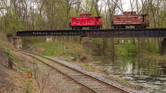 Billboard cabooses at Rupert (D A Cameron) Tags: train railroad tracks bridge northshore history americana pennsylvania columbiacounty columbia northeast susquehanna rupert catawissa