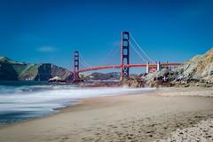 Golden Gate Bridge (Chen Yiming) Tags: bakerbeach beach nps nationalparkservice fortpoint pacificocean sea ocean marincounty sanfranciscobay bayarea california sanfrancisco bridge goldengate goldengatebridge