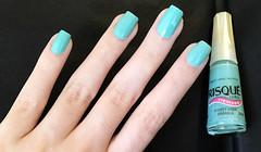 Flores para Iemanjá - Risqué (caumt) Tags: esmalte esmaltes risqué verde azul flores para iemanjá