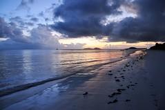 Sunset on Praslin island, Seychelles (Uvongo77) Tags: sunset seychelles ocean indianocean blue purple dramatic beach reflections clouds storm sky