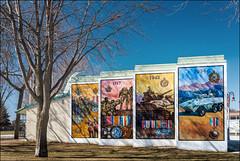 Memorial Park Mural (Oshawa, Ontario) (♡✌ Kᵉⁿ Lᵃⁿᵉ ✌♡) Tags: can canada geo:lat=4389452933 geo:lon=7886293709 geotagged ontario oshawa oshawasoutheast architecture armedforces armedforcesmemorial art canadasmotorcity centrestreetsouth cityofoshawa durhamregion greatertorontoarea johnstreetwest memorial memorialpark memorialparkoshawa metcalfstreet monument mural oshawamemorialpark preparetobeamazed simcoestreetsouth thegardenoftheunforgotten touristattraction travelphotography warmemorial wwwoshawaca