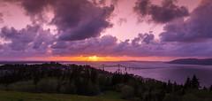 Sunset over Astoria, Oregon OR (Jack Brown Photography) Tags: astoria washington oregon columbia river pacific ocean sunset column