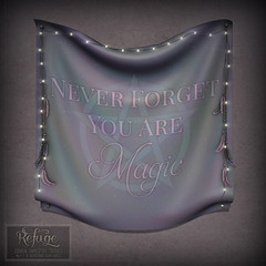 Refuge - Magic Tapestry Ad (Iseul Kim | Refugestore Resident | Refuge) Tags: wicca wiccan witchcraft witch witches tapestries tapestry feathers pentagram lights thecoven secondlife refuge sl refugestoreresident