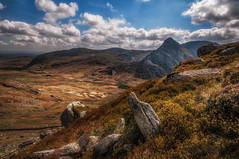 Up where I belong..... (Einir Wyn Leigh) Tags: landscape rugged rural mountains sky spring sunshine tryfan rocks wilderness outdoor walking wales snowdonia cymru love happy fun beauty natural nature passion laughter