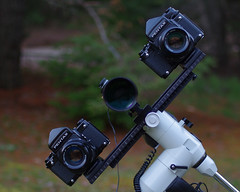 Doubling Down (Noctcaelador) Tags: pentax67 astrophotography analog 105mmf24