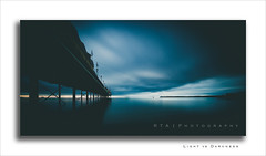 Light vs Darkness (RTA Photography) Tags: paigntonpier paignton longexposure 94sec nd1024 ndfilter sky sea smooth haunting blue dark light pier rtaphotography southdevon devon torbay f11 nikond7000 sigma1020mm456exdchsm