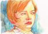 REFORZANDO EL TRAZO (GARGABLE) Tags: angelbeltrán apuntes sketch drawings dibujos gargable portrait retrato