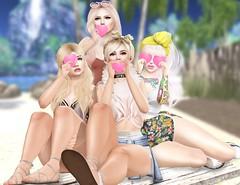 I'd dye my hair blonde 4 u (Lauryn Sage Greyson) Tags: summer second life hearts bento girls family chic shorts tropical beach sandals blonde catwa lagyo zenith maitreya fun love cute