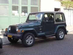 2000 Jeep Wrangler Sahara (harry_nl) Tags: netherlands nederland 2017 schoonhoven jeep wrangler sahara 63ztn7 sidecode7 wcar
