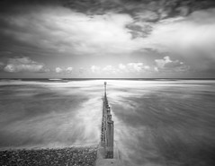 Reach (Aidan Mincher) Tags: longexposure sea beach clouds groynes blackandwhite tide canon5dmk3