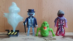 Ghosts by Playmobil (Just a Nobody) Tags: playmobil ghostbusters slimer egon spengler ray stantz winston zeddemore janine melnitz louis tully dana barrett peter venkman 2017 stay pufft ghost ghosts toy figure
