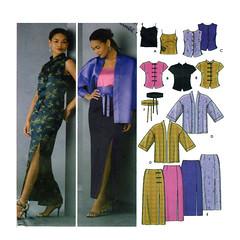 Simplicity 5343 asian oriental style (FindCraftyPatterns) Tags: asian oriental women 2piecedress tunic kimonojacket simplicity5434 maxiskirt shortsleeveblouse camisole size612 uncut