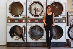 Maike (Jan Meifert) Tags: lomography lomo negative color 400 analogue analog 35mm film portraiture porträt portrait laundry laundrette waschsalon mawehh altona ottensen jan meifert