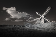 Communications (jellyfire) Tags: blackandwhite canon5dmkii distagont3518 eastanglia ir landscape landscapephotography mill mono stantonpostmill suffolk windmill ze zeissdistagont18mmf35ze canon field flour heritage industrialrevolution infrared monochrome skies sky spring stanton wheat zeiss