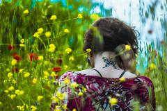 Ejercitando las alas (abel.maestro) Tags: spring flower verde rojo flor primavera mariposa volar garcía garcia maestro abel rodriguez amarillo montse montserrat