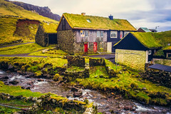Grass Roofs, Grass Roots (West Leigh) Tags: faroeislands travel travelphotography tranquil peaceful house moss nature live minimal dream discover explore experience enchanted green nordic
