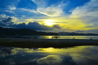 sunset Port Barton Philippines _7732