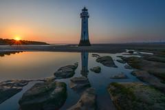 perch rock sunset (paul hitchmough new) Tags: paulhitchmoughphotography nikond800 nikonphotograhy nikon sunset rocks textures water perchrock rivermersey wideangle reflections lighthouse beach sea