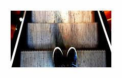 Going down ! (CJS*64) Tags: cjs64 craigsunter craig samsung samsungj3 escalator goingdown shoes feet colour shopping shop