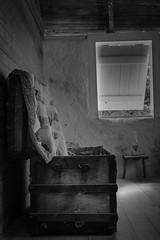 Trunk (2_buckchuck) Tags: florida floridakeys adderleyhouse cranepoint building old bedroom trunk bw blackandwhite