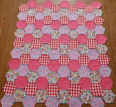 Ready to sew (andreabailey50) Tags: patchwork fabric english paper pieces hexagons pattern