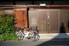 DSCF9016 (Keith Yong) Tags: tokyo japan bicycle house front morning oldjapan