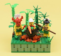 Supper Time (MinifigNick) Tags: firestar minifig minifigure suppertime lego canibal afol