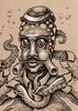 Innsmouth Denizen 5 (Bryan_Collins) Tags: weird monster art drawing ink pencil octopus strange lowbrow pop bryan collins surreal creature sea kraken