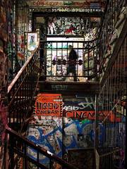 Tacheles - Berlin, Germany (Tilemachos Papadopoulos) Tags: qoq stairs staircase fuji fujifilm fujinon graffiti indoors street rust urban berlin architecture abandoned decay structure infrastructure mirrorless