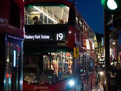 Finsbury Park Station (Cosimo Matteini) Tags: cosimomatteini ep5 olympus pen m43 mft mzuiko45mmf18 london soho traffic bus night street 19 finsbusyparkstation shaftsburyavenue