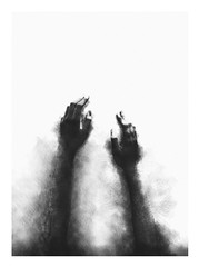 "Salvation (Jun ""D"" Phan) Tags: charcoal monochrome darkart photography photoborder drawing inspiration 2017 conceptphoto abstract fineartphotography self weird darkness salvation hand noir grain"