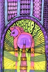 Fat Pony (molossus, who says Life Imitates Doodles) Tags: bleedthrumanade clairefontaine zentangle zentangleinspiredart