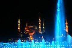 Istanbul by night (erikamarson) Tags: colorfountain night santasofia travel moschea turchia turkey istanbul