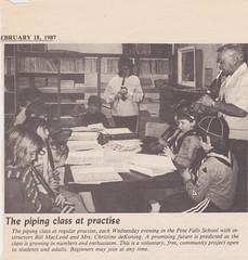 Stirling Pipe Band Pine Falls Newspaper Articles-17 (Hugh Peden) Tags: stirling pipe band pine falls manitoba major william bill macleod