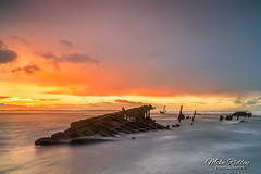 The SS Werner Kunstmann (Mike Ridley.) Tags: sswernerkunstmann shipwreck northumberland northumberlandcoast goswicksands goswick beach nature sunset sonya7r2 leefilters mikeridley longexposure
