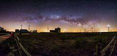 El arco sobre el observatorio (inyakky) Tags: milkyway milky way landscape longexposure stars night vialactea estrellas nocturna spring colours